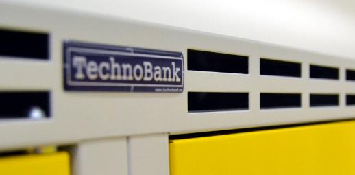 Kovové šatní skříně TechnoBank - vybavení šatny