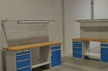 Dílenské stoly s kontejnery - Dílenské pracovní stoly ALCERA®