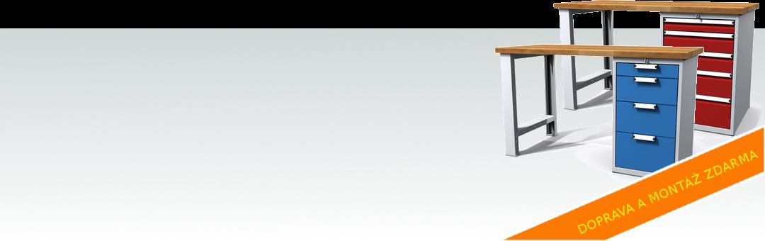 AKCE: Dílenské stoly Alcera - doprava a montáž zdarma