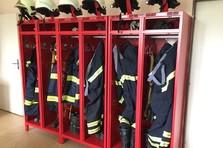 Šatní skříňky pro hasiče