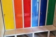 - Pozinkované šatní skříňky do dětského bazénu