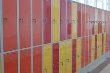 Šatní skříňky pro gymnázium