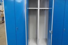 Šatní skříňky s úpravou pro sušení ručníků