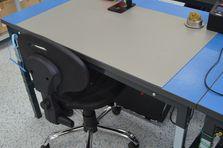 Pracovní antistatická (ESD) deska - Stavitelný stůl ALSOR® s ESD pracovní deskou