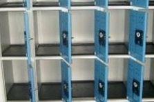 - Vybavení sportoviště, úschovné boxy - mincové zámky