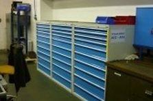 Zásuvkové dílenské skříně s vnitřními plastovými přepážkami - Zásuvkové skříně s vnitřními plastovými přepážkami